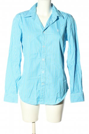 Ralph Lauren Langarmhemd blau-weiß Allover-Druck Casual-Look