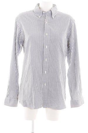 Ralph Lauren Langarmhemd weiß-silberfarben Streifenmuster Business-Look
