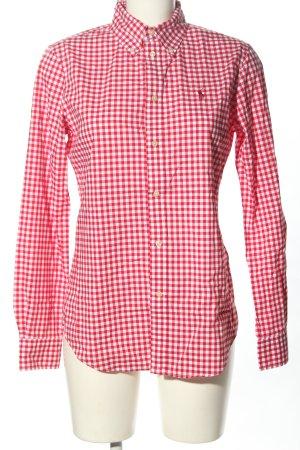 Ralph Lauren Camicia a maniche lunghe rosso-bianco motivo a quadri stile casual