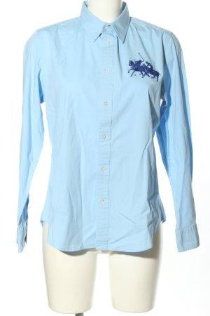 Ralph Lauren Camicia a maniche lunghe blu stampa integrale stile casual