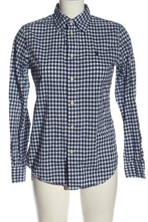 Ralph Lauren Langarmhemd blau-weiß Karomuster Casual-Look