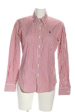 Ralph Lauren Langarmhemd weiß-rot Streifenmuster Business-Look