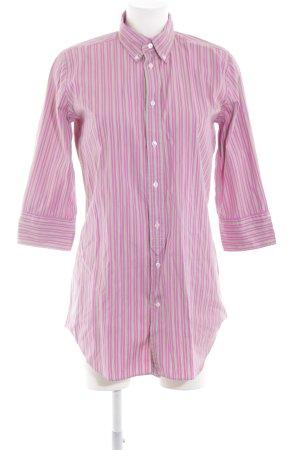 Ralph Lauren Langarmhemd pink-grün Streifenmuster Casual-Look