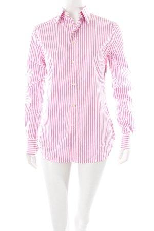 Ralph Lauren Langarmhemd pink-weiß klassischer Stil