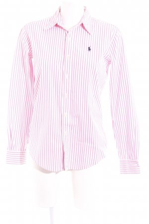 Ralph Lauren Langarmhemd pink-weiß Streifenmuster Casual-Look