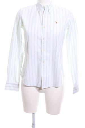 Ralph Lauren Langarmhemd weiß-grün Streifenmuster Business-Look