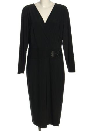 Ralph Lauren Langarmkleid schwarz Elegant
