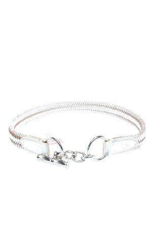 Ralph Lauren Cintura di pelle argento con glitter