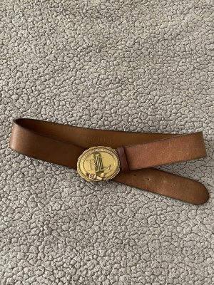 Ralph Lauren Ledergürtel braun / gold