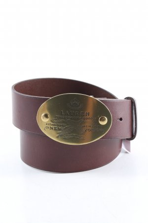 Ralph Lauren Leather Belt brown-gold-colored casual look