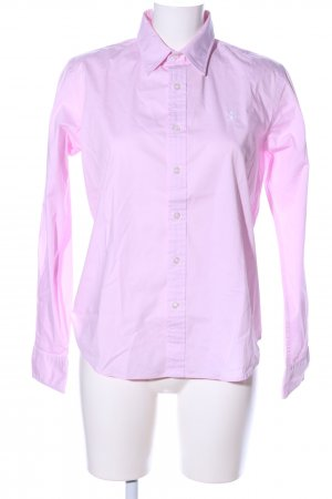 Ralph Lauren Leather Shirt pink embroidered lettering casual look