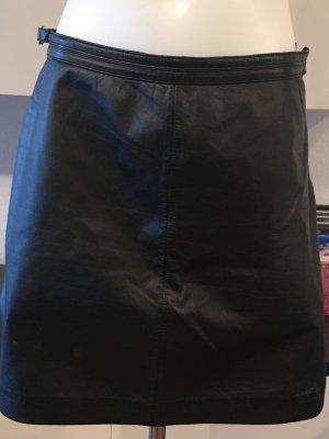Lauren by Ralph Lauren Leather Skirt black