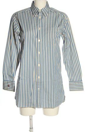 Ralph Lauren Long-Bluse weiß-blau Allover-Druck Business-Look