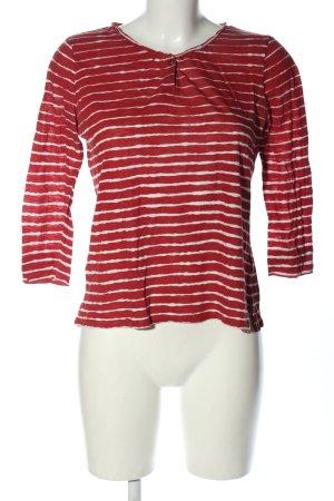 Ralph Lauren Longsleeve rot-weiß Streifenmuster Casual-Look