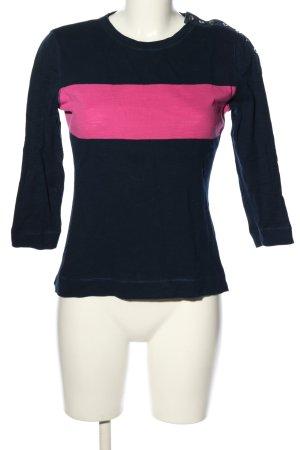 Ralph Lauren Longsleeve blau-pink Streifenmuster Casual-Look