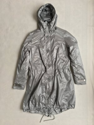 Polo Sport Heavy Raincoat silver-colored mixture fibre