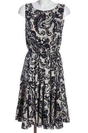 Ralph Lauren Midi Dress black-white abstract pattern casual look