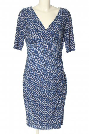 Ralph Lauren Midikleid blau-weiß grafisches Muster Casual-Look