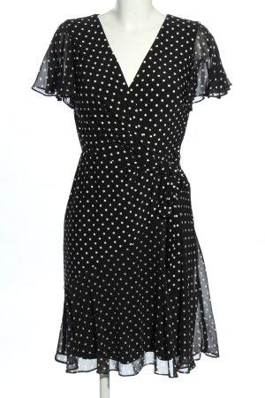 Ralph Lauren Minikleid schwarz-weiß Punktemuster Elegant