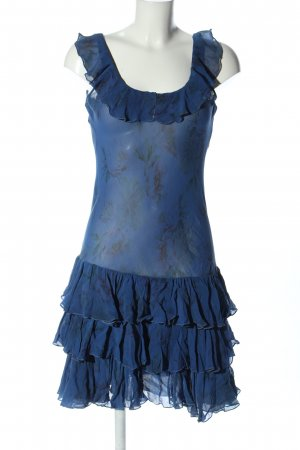Ralph Lauren Minikleid blau Allover-Druck Casual-Look