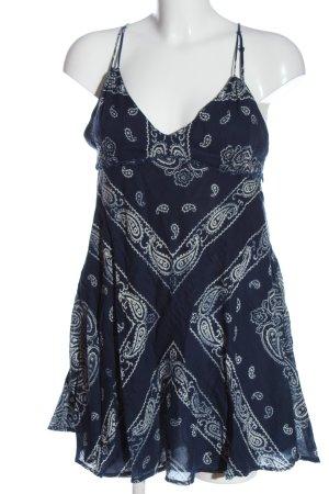 Ralph Lauren Minikleid blau-weiß Allover-Druck Casual-Look