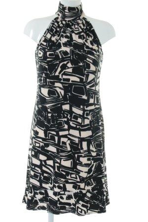 Ralph Lauren Neckholderkleid creme-schwarz Allover-Druck Elegant