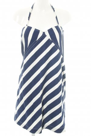 Ralph Lauren Neckholderkleid blau-weiß Allover-Druck Casual-Look