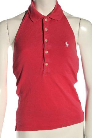 Ralph Lauren Top estilo halter rojo look casual