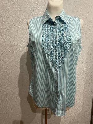 Lauren by Ralph Lauren Short Sleeved Blouse turquoise-white