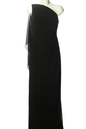 Ralph Lauren One-Shoulder-Kleid schwarz Elegant