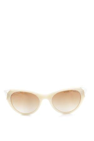 Ralph Lauren Gafas de sol ovaladas crema look casual