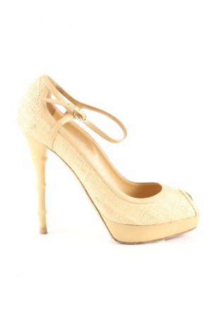 Ralph Lauren Peeptoe Pumps creme Casual-Look
