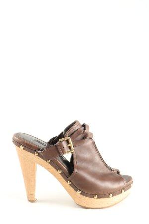 Ralph Lauren Plateau-Sandaletten braun Elegant