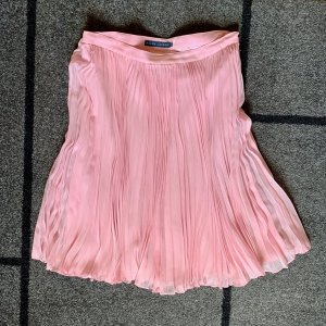 Ralph Lauren Falda plisada rosa claro Seda