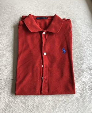 Ralph Lauren Top Polo carminio-blu fiordaliso