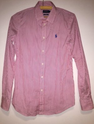 Polo Ralph Lauren Long Sleeve Shirt white-magenta