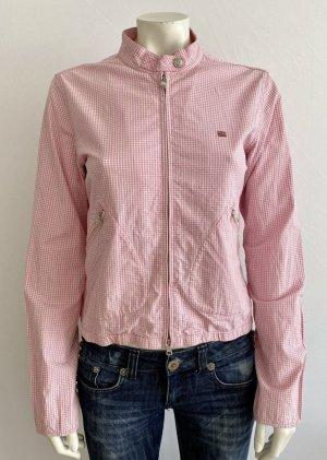 Ralph Lauren Polo Jeans Co Jacke Gr. M rosa/weiß kariert Logo