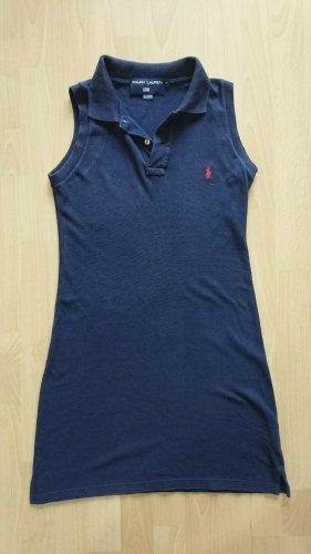 Ralph lauren, Polo Kleid, Blau, Ohne Arm, A Form, Gr S , Logo