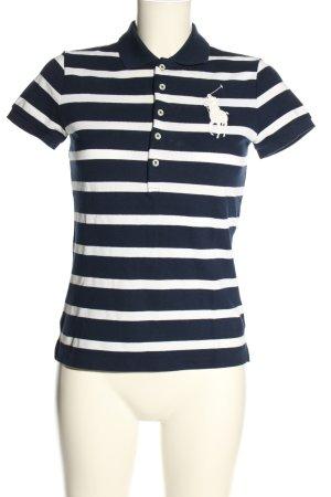 Ralph Lauren Polo-Shirt blau-weiß Streifenmuster Casual-Look