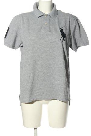 Ralph Lauren Polo grigio chiaro puntinato stile casual