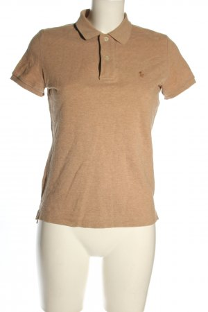 Ralph Lauren Polo-Shirt braun meliert Casual-Look
