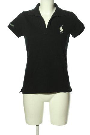 Ralph Lauren Polo-Shirt schwarz-weiß Casual-Look