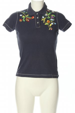 Ralph Lauren Polo-Shirt blau Blumenmuster Casual-Look