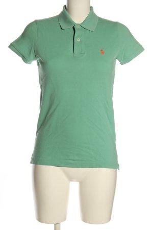 Ralph Lauren Polo-Shirt grün Schriftzug gestickt Casual-Look