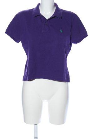 Ralph Lauren Polo shirt lila geborduurde letters casual uitstraling