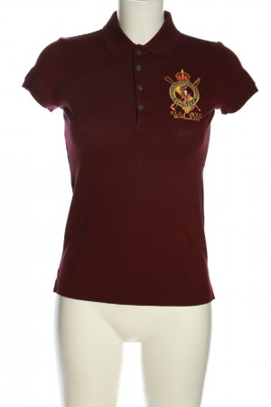 Ralph Lauren Polo-Shirt rot Motivdruck sportlicher Stil