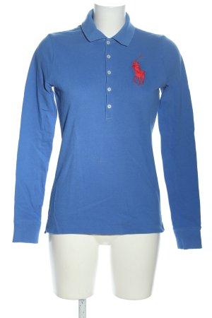 Ralph Lauren Koszulka polo niebieski Wydrukowane logo W stylu casual