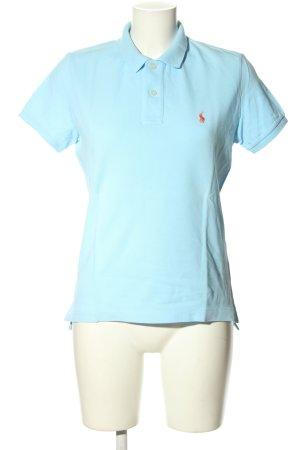 Ralph Lauren Polo-Shirt türkis Schriftzug gestickt Casual-Look