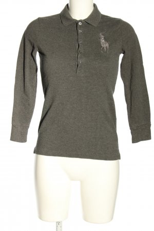 Ralph Lauren Polo Shirt light grey flecked casual look