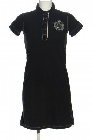 Ralph Lauren Polo Dress black-silver-colored themed print casual look